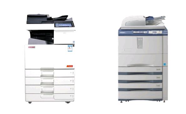 震旦复印机和东芝复印机做对比